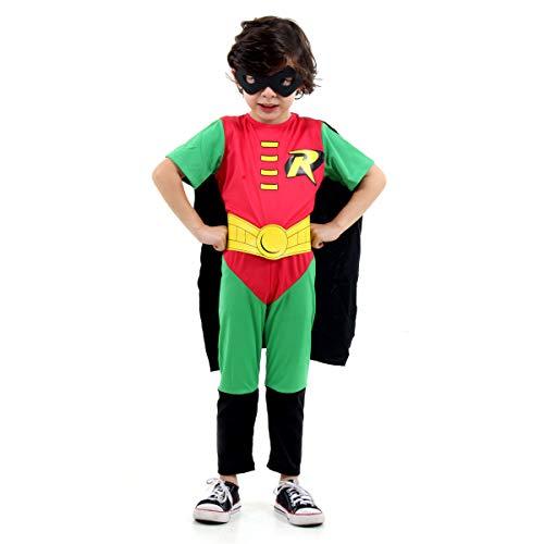 Fantasia Robin STD Infantil Sulamericana Fantasias G 10/12 Anos
