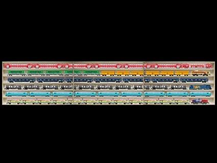 Alsino 2E44ALR Vetrina espositiva Scala H0 e N in Legno DL Betulla Non trattato con Guide 8 Ante plexiglass scorrevoli 160 cm x 75,5 cm x 10,5 cm 8 Ripiani