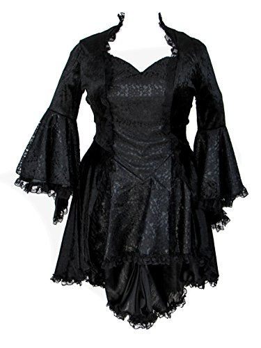 Eternal Love Plus Size Black Gothic Gwendolyn Dress Taffeta Lace (2X) by Eternal Love (Image #1)