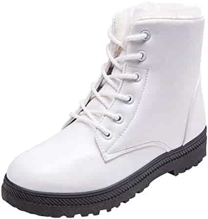 a419530ef8c Yellow Tree Company Women Winter Snow Boots Fur Sneakers Shoes Lace-up Flat Platform  Ankle