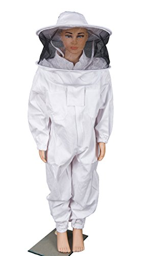 BeeCastle Children's/Kids' Beekeeping Cotton Protective Suit with Fencing Veil for Kids Round Hat (4.8FT/ 57.6INCH)