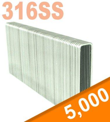2'' LEG x 7/16'' CROWN 16GA 316 STAINLESS N21 STAPLES 5M Box
