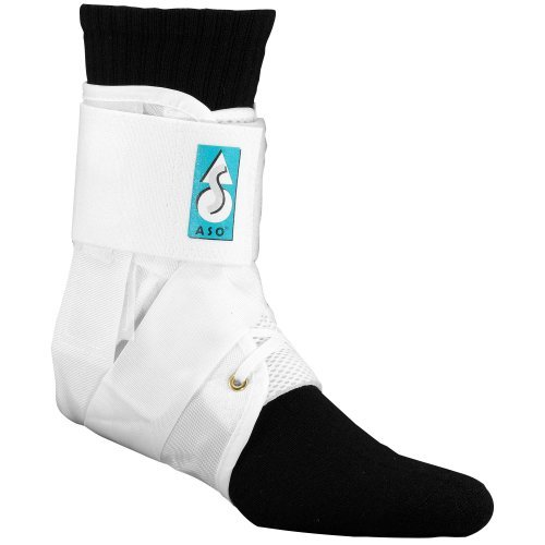 MedSpec ASO w/ Plastic Stays Ankle Brace Stabilizer White Medium Plastic Stabilizer