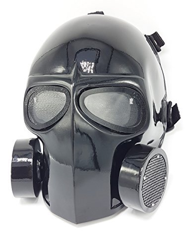 Invader King Flat White Airsoft Mask Army of Two Protective Gear Outdoor Sport Fancy Party Ghost Masks Bb Gun (G Mask) ()
