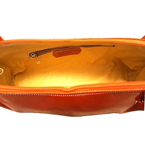 Borsa Market Doppio A Spalla Manico Florence Leather Con Arancio 6886 Yq7pnYP5