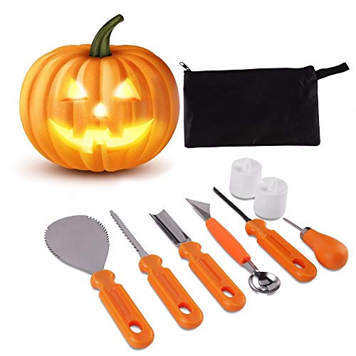 Party Diy Decorations - 5 8pcs Halloween Pumpkin Carving Kit Cutter Melon Fruit Child Cut Lamp Diy Decor - Moroccan Halloween Melon Form Knife Backless Holder Cutlery Banneton -