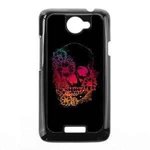 HTC One X Cell Phone Case Black calavera colores POV Phone Case DIY Unique