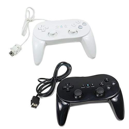 Classic Controller For Nintendo Wii White and Black 2 Pack