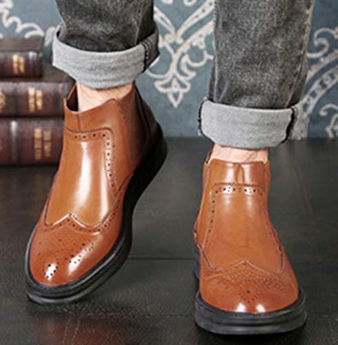 Chelsea À Brown Bottes La Myxua Martinées Hommes Mode Pour 5R6Uq