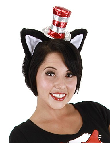Dr. Seuss Cat in the Hat Costume Ears Headband & Hat - elope