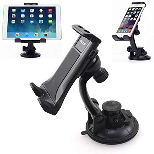 Rotating Car Mount Tablet Phone Holder Dashboard Windshield Cradle Stand Suction Compatible with MetroPCS LG Stylo 4 - MetroPCS Motorola Moto E4 - MetroPCS Motorola Moto E5 Plus