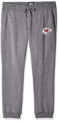 (NFL Kansas City Chiefs Female OTS Splash Jogger Pants, Vintage Grey, Large)