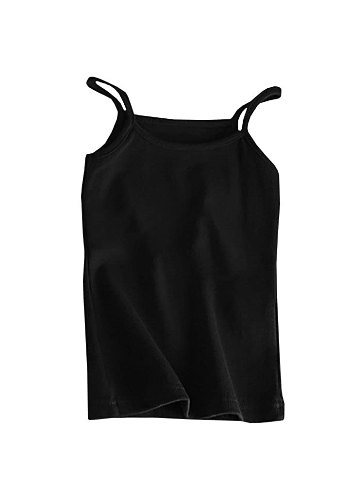 Doubleal Baby Girl Toddler Girls Kids Camisole Packs Tank Top Undershirts Solid Soft Cotton