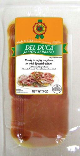 Del Duca Sliced Jamon Serrano - Jamon Serrano Ham