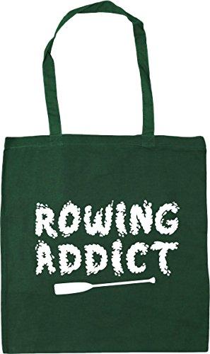 Gym x38cm Shopping Beach 10 Green Rowing Addict Bottle HippoWarehouse litres 42cm Tote Bag qwOTgFI