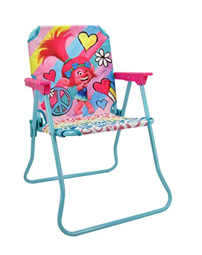 (Trolls Patio Chair for Kids, Portable Folding Lawn)