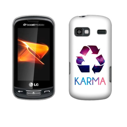 Fincibo (TM) LG Rumor Reflex LN272 Xpression C395 Protector Hard Plastic Snap On Cover Case - Karma, Front And Back