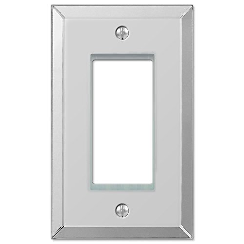 Amerelle 66R Mirror Finish Rocker/GFCI Wallplate, Clear Mirror by Amerelle by Amerelle
