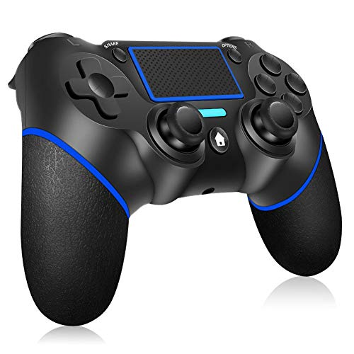 [2021 Upgraded Version] Wireless Controller for PS4 RegeMoudal Wireless Controller for PS4/Pro/Slim, Touch Panel Gamepad with Double Vibration and Audio Function