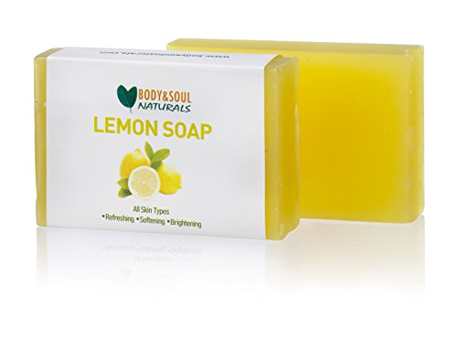 Lemon Glycerine Soap (Lemon Natural Glycerin Vegan Soap 3.5 Ounces (3-Pack))