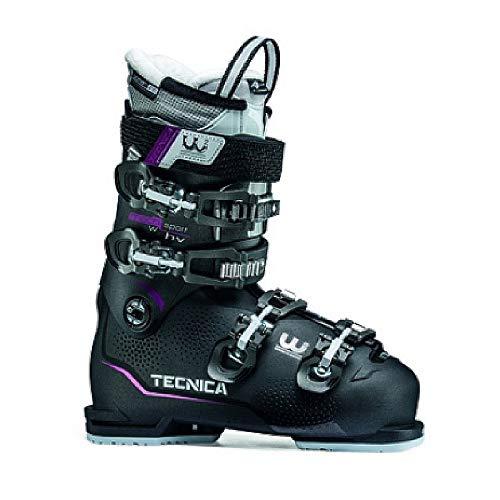 Tecnica Women's Mach Sport HV 75 Ski Boots - 26.5 - Anthracite/Purple ()