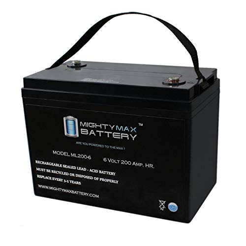 Mighty Max Battery 6V 200AH SLA Battery Replaces Camper Golf Cart RV Boat Solar Wind Brand Product (Best 6 Volt Golf Cart Batteries)