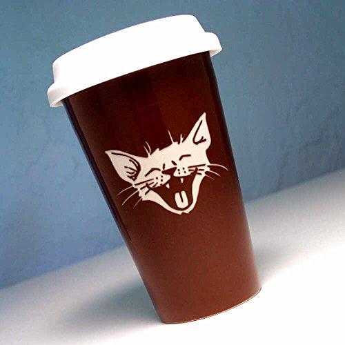 LAUGHING CAT Travel Mug Insulated product image
