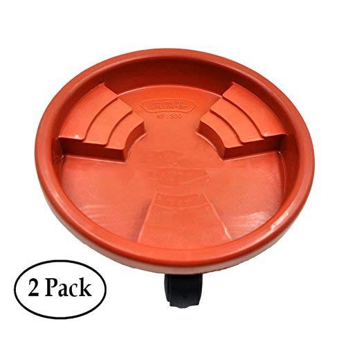 Ruier-hui 2 PCS Plant Pot Saucer Universal Wheel Resin Flower Pot Tray...