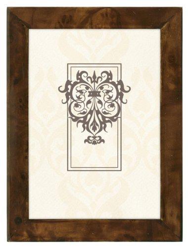 Malden International Designs Burlwood Veneer Dark Walnut Picture Frame, 8x10, Walnut