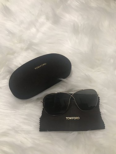 Glasses 393 (Tom Ford Sunglasses TF 393 April 28P Black Gold 61mm)