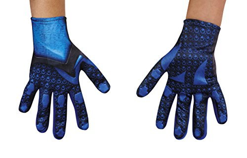 Child Blue Gloves (Disguise Blue Power Rangers Movie Child Gloves, One Size)