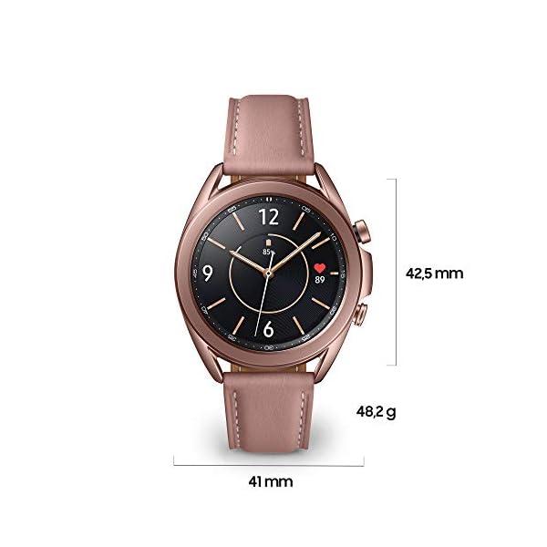 Samsung Galaxy Watch3 Smartwatch Bluetooth, cassa 41mm acciaio, cinturino pelle, Saturimetro, Rilevamento cadute… 3