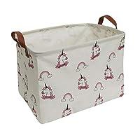 ESSME Rectangular Fabric Storage Box,Collapsible Storage Basket Bins Organizer with Handles for Kids Room,Shelf Basket,Toy Organizer