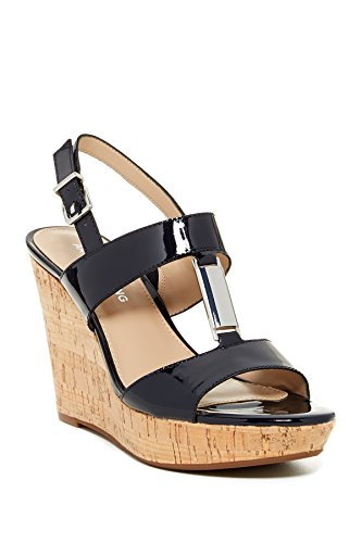 Arturo Chiang Peri Wedge Navy Sandals Women's Size ()