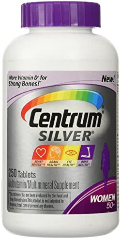 Centrum Silver Women Multivitamin – 250 Tablets
