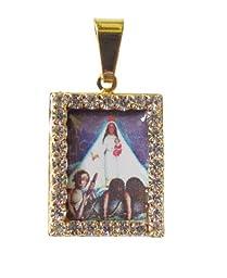 Blessed By Pope Francis Nuestra Senora De La Candelaria La Popa Medalla Enchapada En Oro Patrona De Cartagena De Indias
