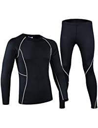 Thermal Underwear For Men Skiing Cycling Running Base Layer Compression Shirts&Tights