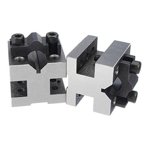 Wanrane V Block Clamp Set V Block Matched Pair 7/16 to 13/16 90 Degree Precision Machine