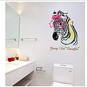 Buzdao Removable Colors Horse Cartoon Wall Decals for Kids Room Sofa Background Living Room Home Decoration Art Design Sticker Mural