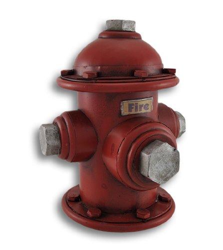 Zeckos Vintage Look Metal Fire Hydrant Coin Bank - Bank Fire Hydrant Piggy