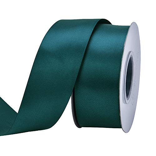 Ribest 1-1/2 inch 25 Yards Solid Double Face Satin Ribbon Per Roll for DIY Hair Accessories Scrapbooking Gift Packaging Party Decoration Wedding Flowers Teal]()