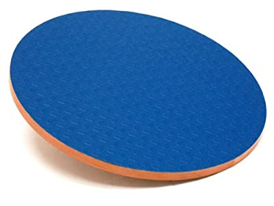 "3B Scientific W15078 Eucalyptus Wood Circular Wobble Board 0 - 16 Degree Angles, 3"" Height, 16"" Diameter"