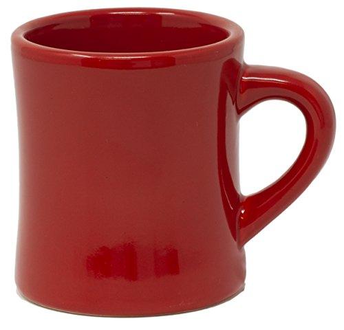 Funny Guy Mugs Classic Retro Diner Coffee Mug, Ceramic, Red, 10 ()