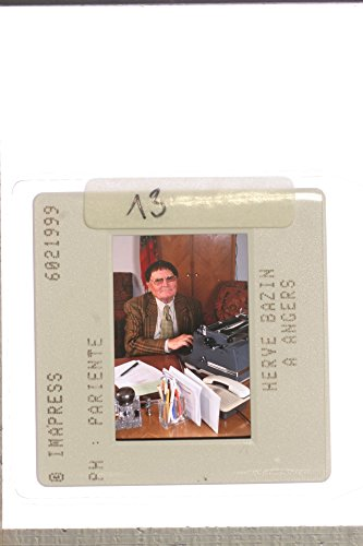 Slides photo of French writer, Herv233; Bazin, with a - French Writer