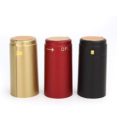 Vivona Hardware & Accessories 100Pcs Heat Shrink Cap PVC Tear Tape Wine Bottle Seal Ring Cover - (Color: Gold) by Vivona (Image #7)