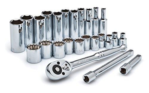 Apex Tool - CSWS8 - 25 Pc 3/8 Dr. Socket Wrench Set Std & de