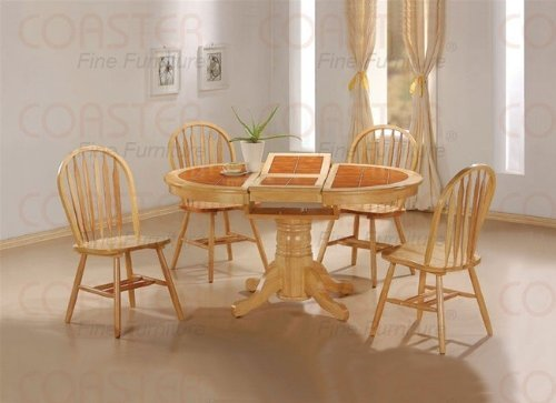 Tile Top Natural Dining Room Set Table Chair Chairs -  - kitchen-dining-room-furniture, kitchen-dining-room, dining-sets - 41LfsHodgRL -