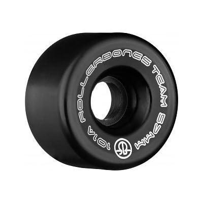 RollerBones Logo Wheel 8pk 101a (Black, 57mm) : Sports & Outdoors