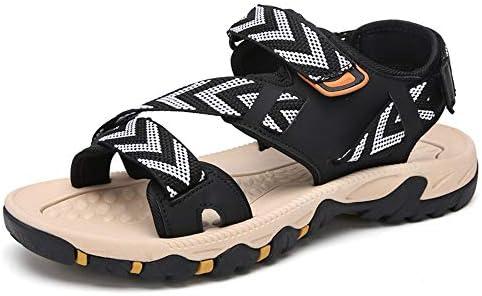 メンズサンダル 男性用ウォーキングサンダルレディースサマービーチアジャスタブルアウトドアスポーツハイキングトレッキングシューズ アウトドア防水靴 (Color : Black, Size : 39)