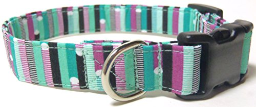 teal-ribbon-stripes-dog-collar-limited-edition-s-3-4